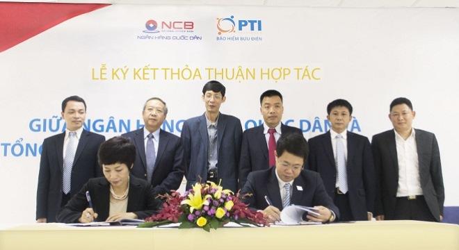 Lễ ký kết hợp tác giữa Ngân hàng Quốc Dân và Công ty bảo hiểm Bưu điện